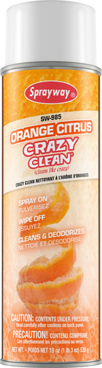 Sprayway 985 Orange Citrus Crazy Clean Spray - 19 oz.