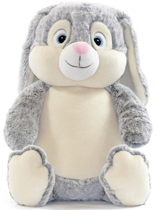 Clovis Brampton Grey Bunny Rabbit Cubbies Stuffed Animal Embroidery Blank