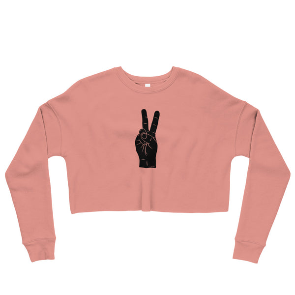 Hand Signals: Peace Cropped Sweatshirt (6 colors)