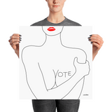VOTE (No. 3) Poster, White