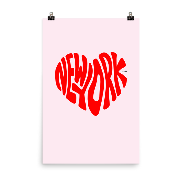 New York Love, Poster (pink/red)