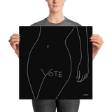 VOTE (No. 1) Poster, Black