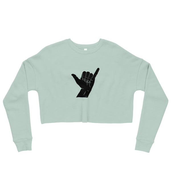 Hand Signals: Shaka Cropped Sweatshirt (6 colors)