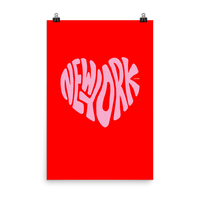 New York Love, Poster (Red/Pink)