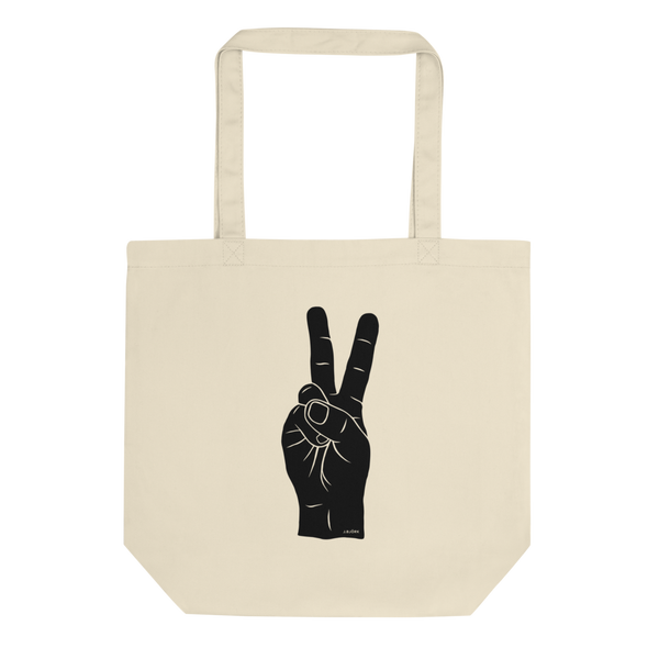 Hand Signals: Peace Tote Bag