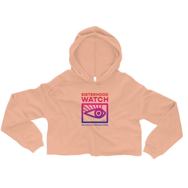 Sisterhood Watch Cropped Hoodie (Rainbow)