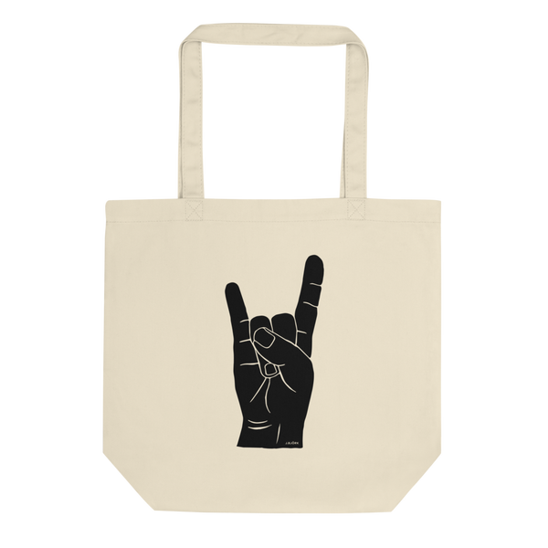 Hand Signals: Sign of the Horns Tote Bag