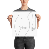 VOTE (No. 1) Poster, White