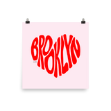 Brooklyn Love, Poster (Pink/Red)
