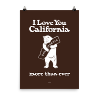 I Love You California (More Than Ever) Poster, Brown