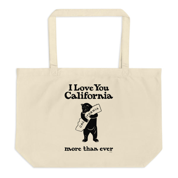 I Love You California (More Than Ever) Large Eco Tote Bag