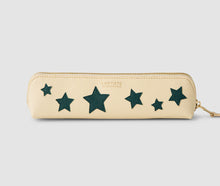 Load image into Gallery viewer, Pencil case - Beige with Bluegreen Stars