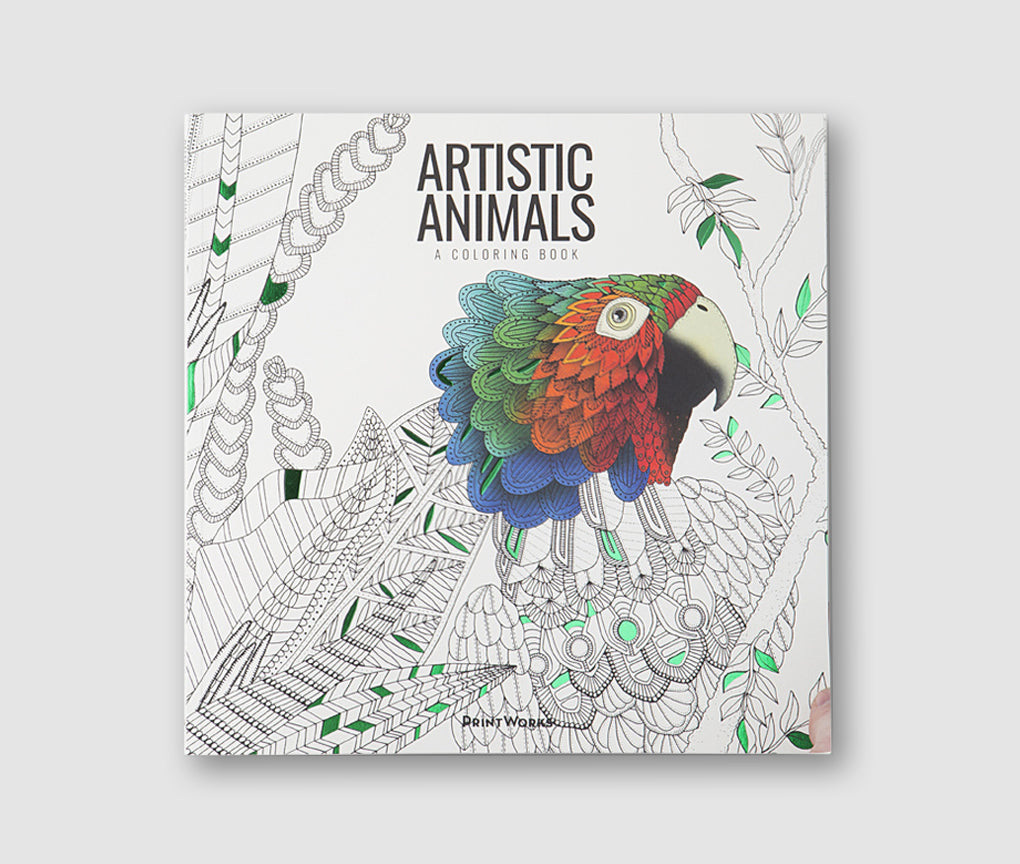 Artistic Animals - A colouring Book