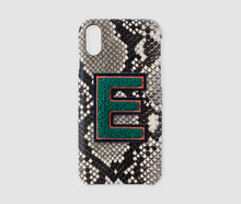 Load image into Gallery viewer, Iphone X Case - Beige Snake