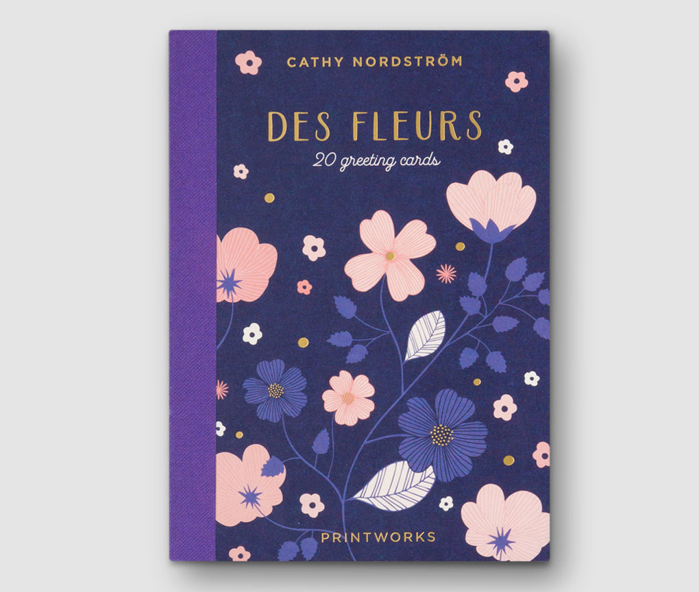 Des Fleures - Book w/ 20 Greeting Cards