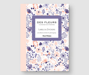 Des Fleures - Labels & Stickers book.