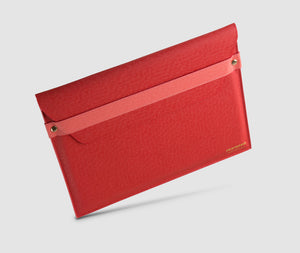 Laptop Case with strap - 13 inch Red/Pink