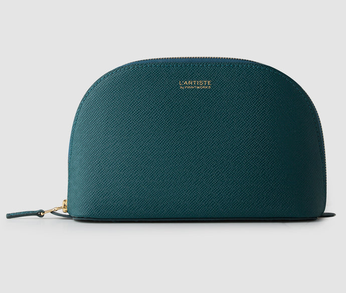 Makeup bag - Bluegreen (halfmoon)