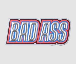 Sticker - BADASS Silver