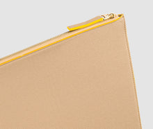 Load image into Gallery viewer, Laptop Case (Beige/Yellow) - 10-12 inch
