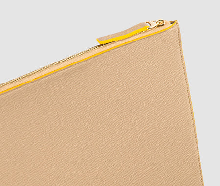 Laptop Case (Beige/Yellow) - 13-15 inch