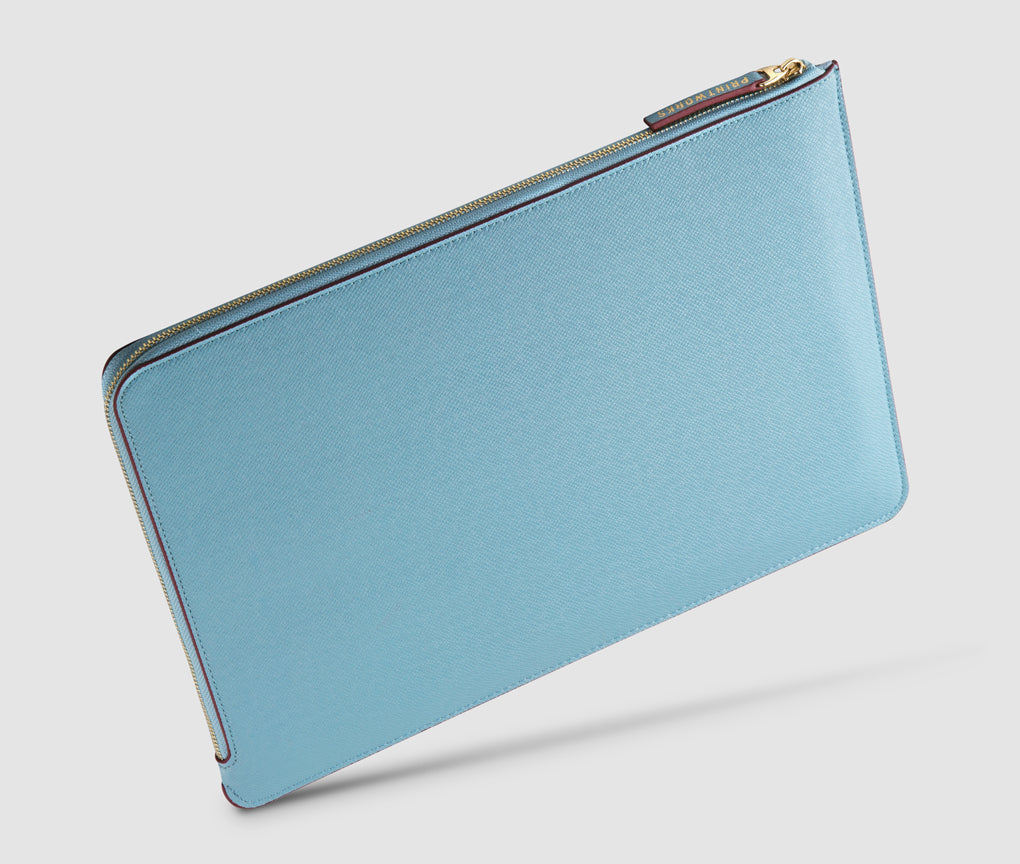 Laptop Case (lightblue/burgundy) - 13-15 inch