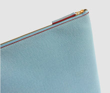 Load image into Gallery viewer, Laptop Case (lightblue/burgundy) - 10-12 inch