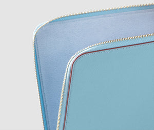Laptop Case (lightblue/burgundy) - 10-12 inch