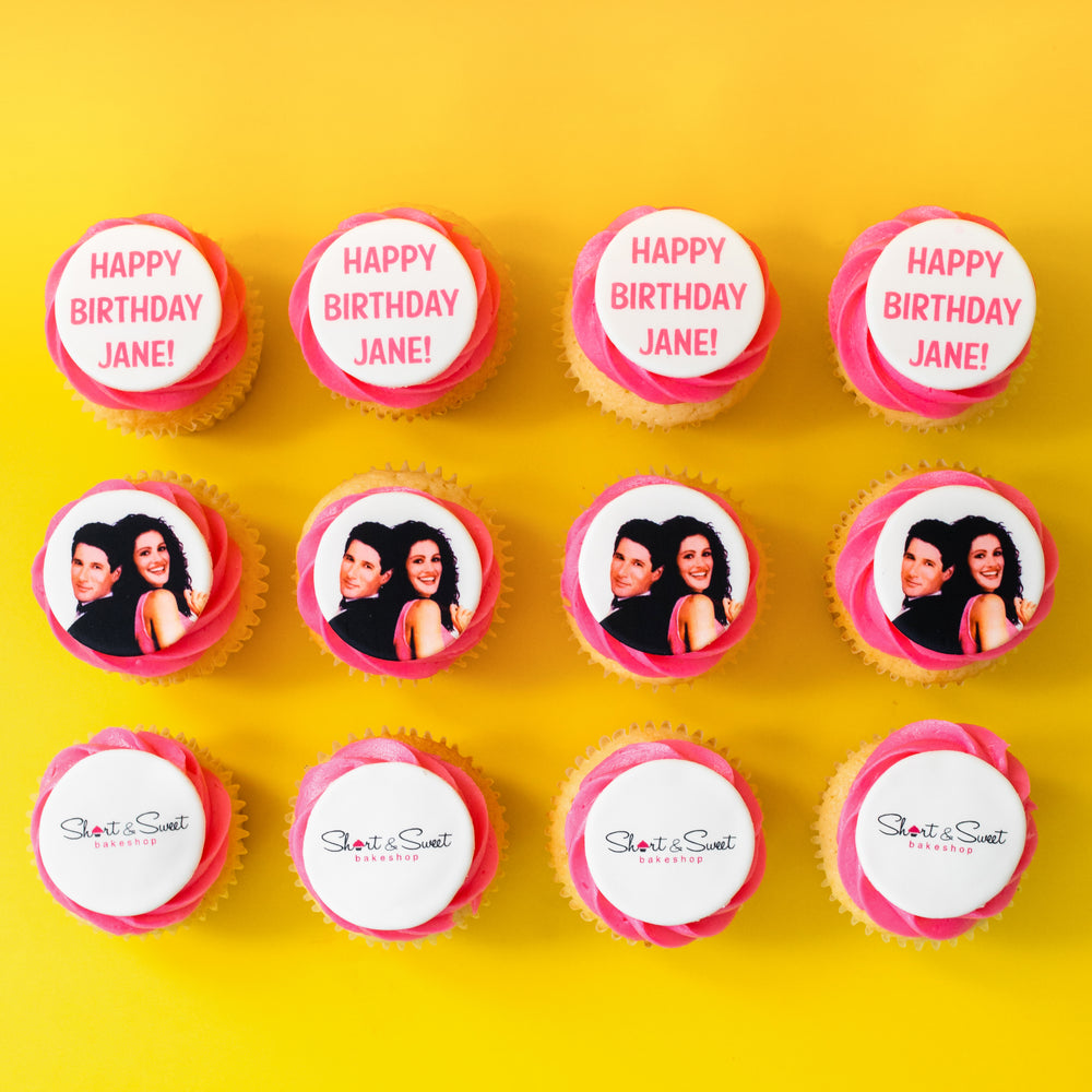 Cupcakes w/ Edible Image Toppers