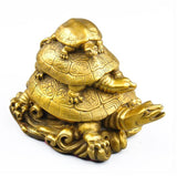 Statue Chinoise Feng Shui - 3 Tortues