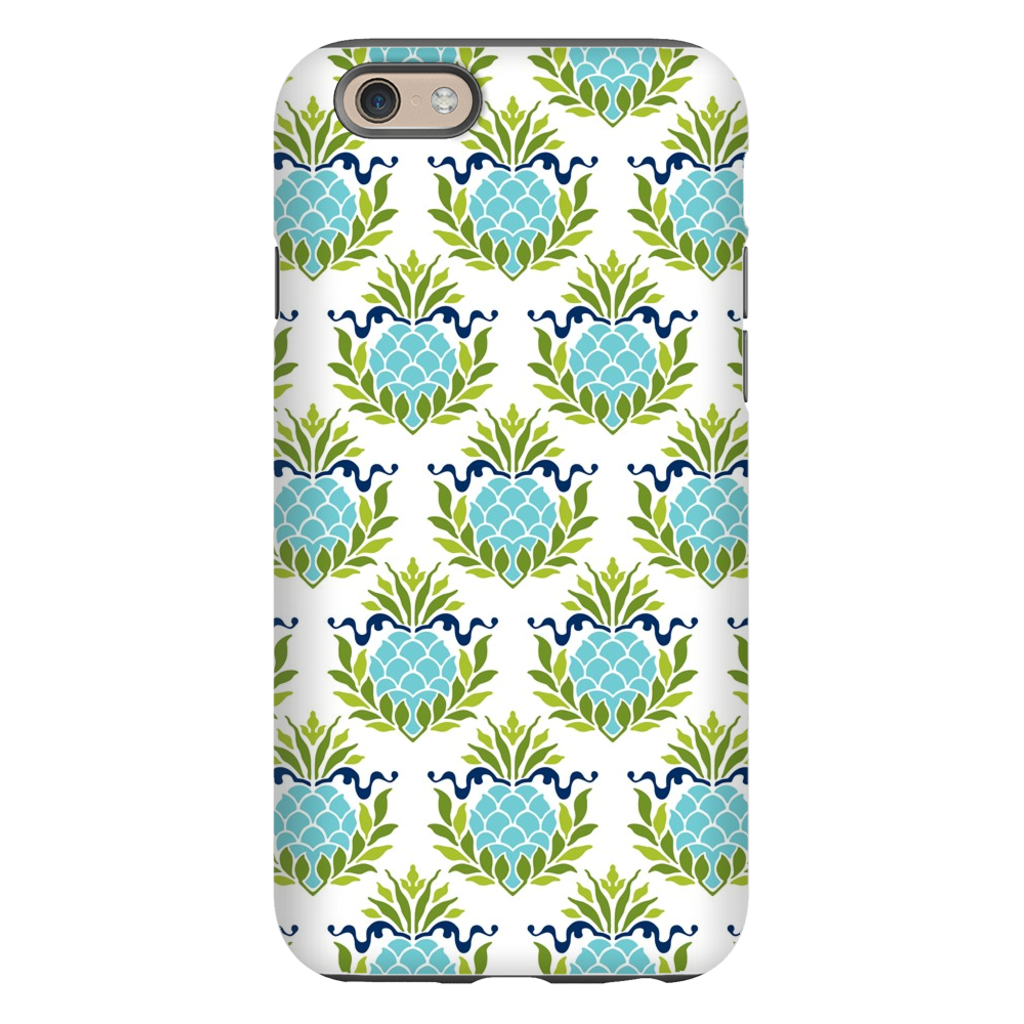 Pineapples Teal Phone Case