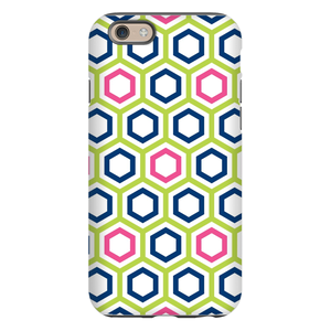 Maggie Lime & Navy Phone Case
