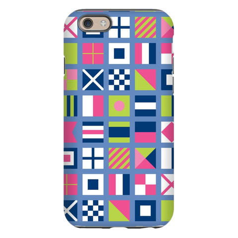 Nautical Flags Pink Phone Case