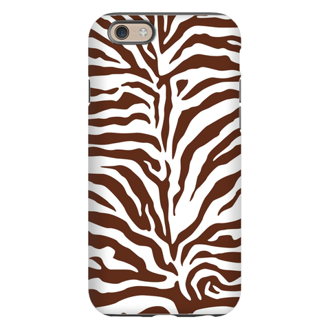 Zebra Brown Phone Case