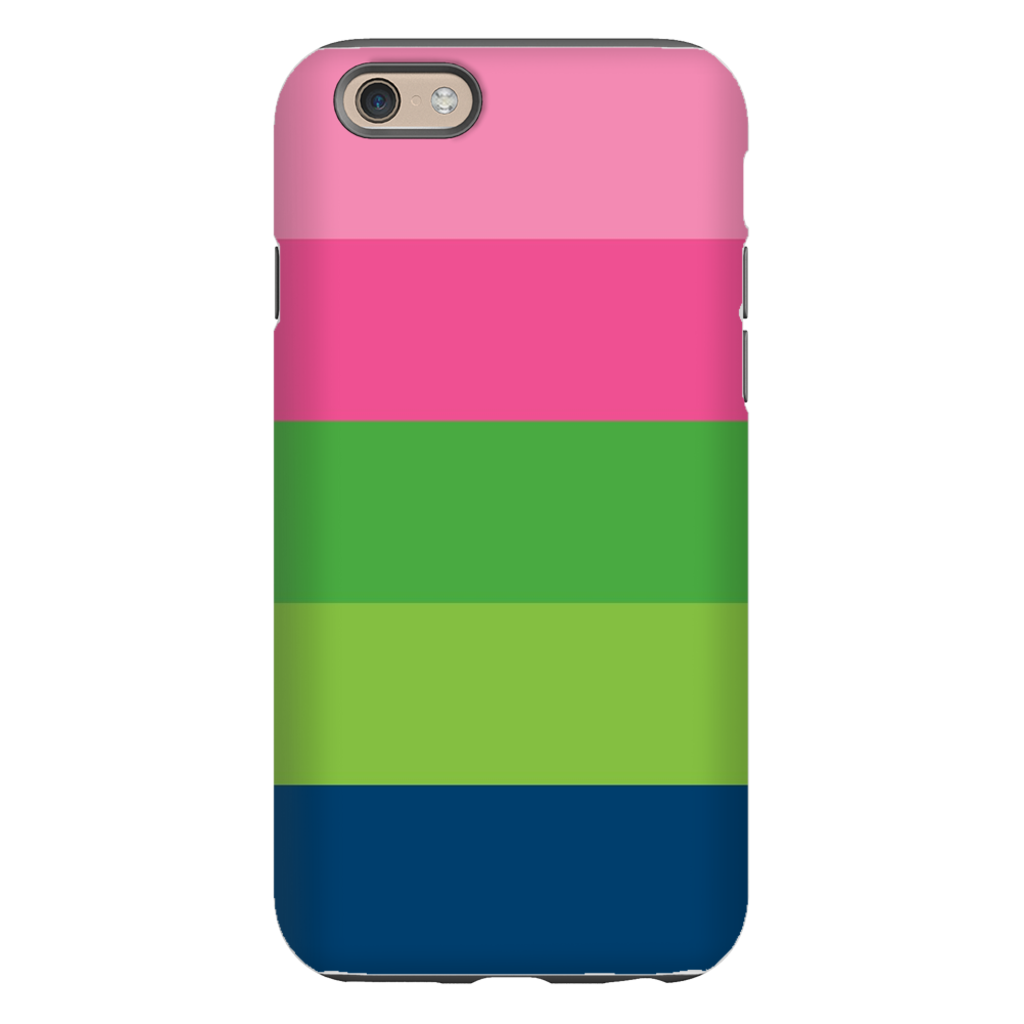 Bold Stripe Pink, Green and Navy Phone Case