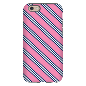 Repp Tie Pink and Navy Phone Case