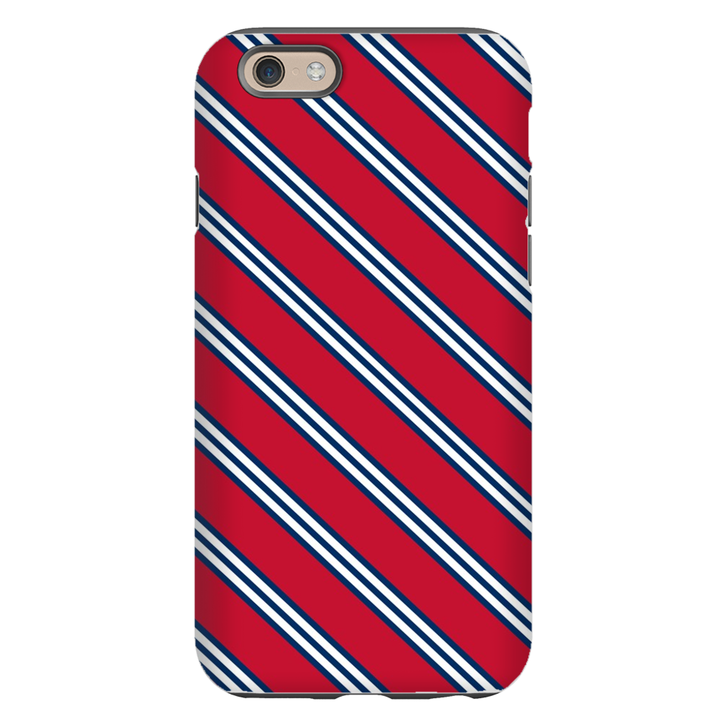 Repp Tie Red and Navy Phone Case