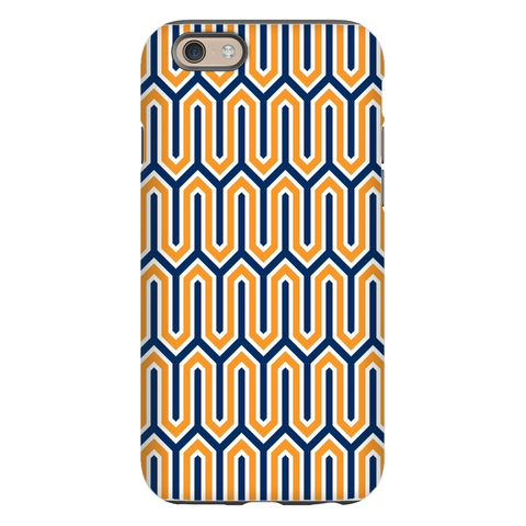Blaine Navy and Orange Phone Case