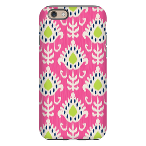 Mia Ikat Raspberry Phone Case