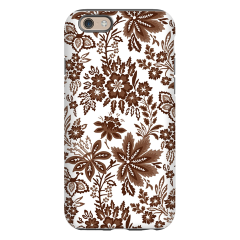 Classic Floral Brown Phone Case