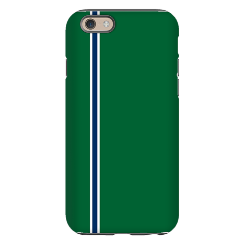 Racing Stripe Hunter & Navy Phone Case
