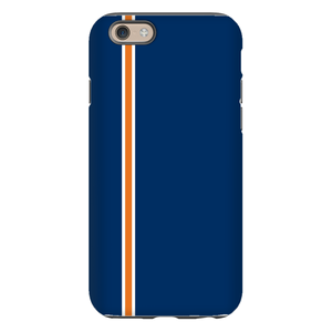 Racing Stripe Navy & Orange Phone Case