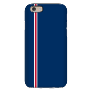 Racing Stripe Navy & Red Phone Case