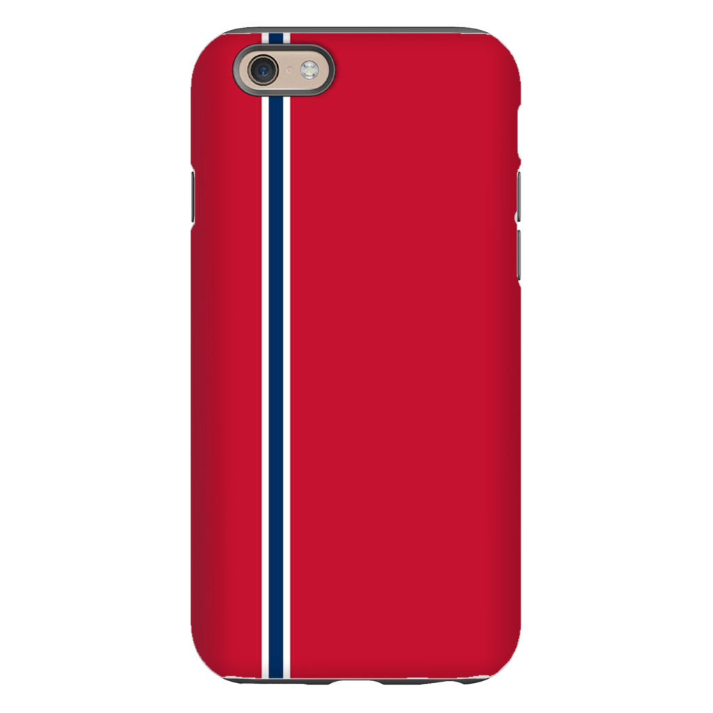 Racing Stripe Red & Navy Phone Case