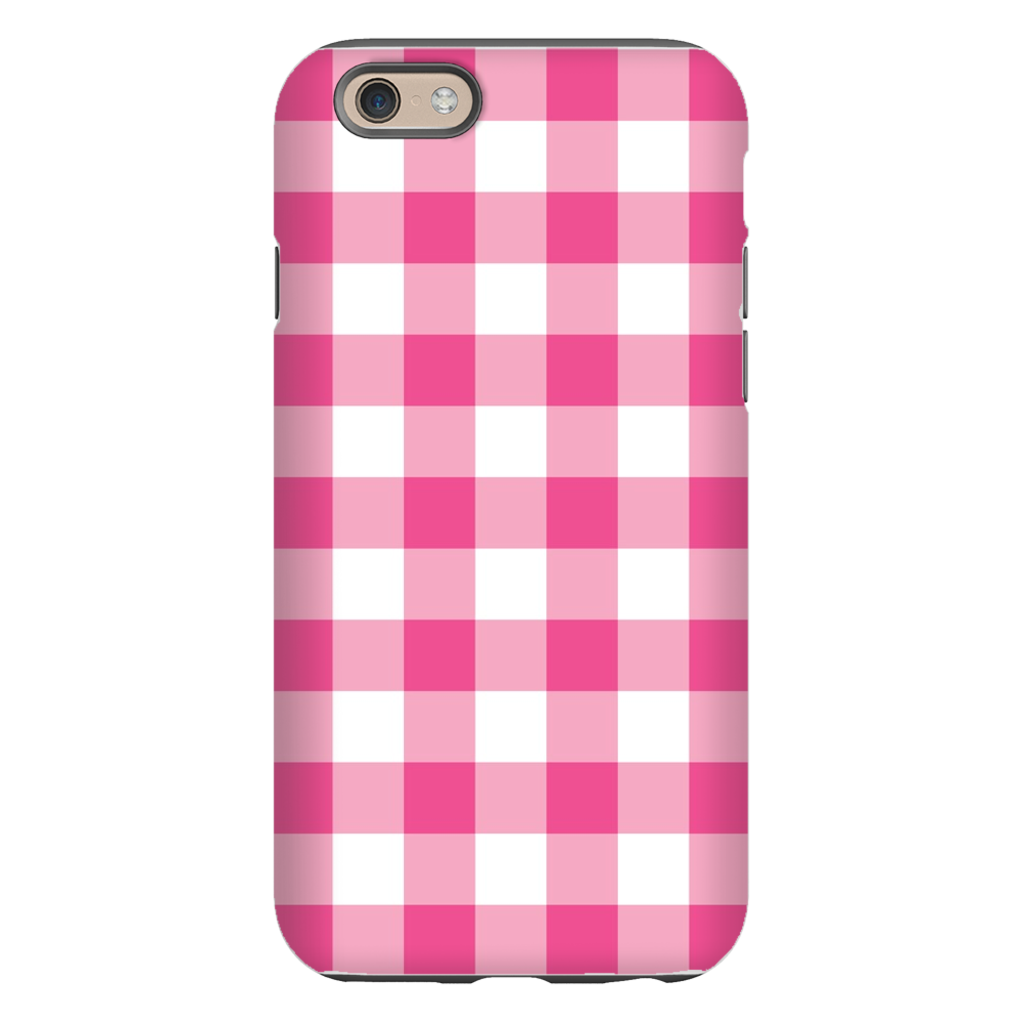 Classic Check Raspberry Phone Case
