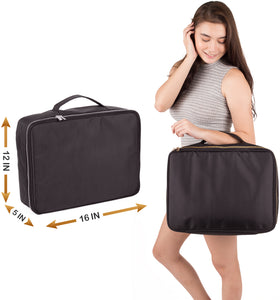 Travel Makeup Bag (XL, Black)