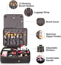 Load image into Gallery viewer, Travel Makeup Bag (XL, Black)
