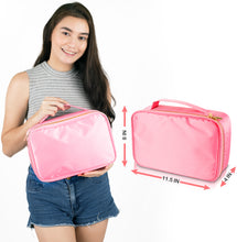 Load image into Gallery viewer, Travel Makeup Bag (Large, Pink)