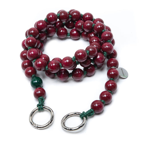 upbeads chimney rote perlen red beads Holzkugeln Handykette Holzperlenkette Holzperlen cellphone chain keychain wooden bead chain