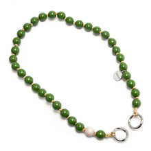 Load image into Gallery viewer, upbeads Olive Shortie shorty Handykette Holzperlenkette Holzperlen cellphone chain keychain wooden bead chain